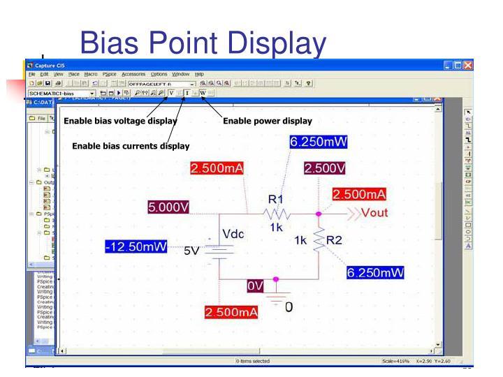 Enable bias voltage display