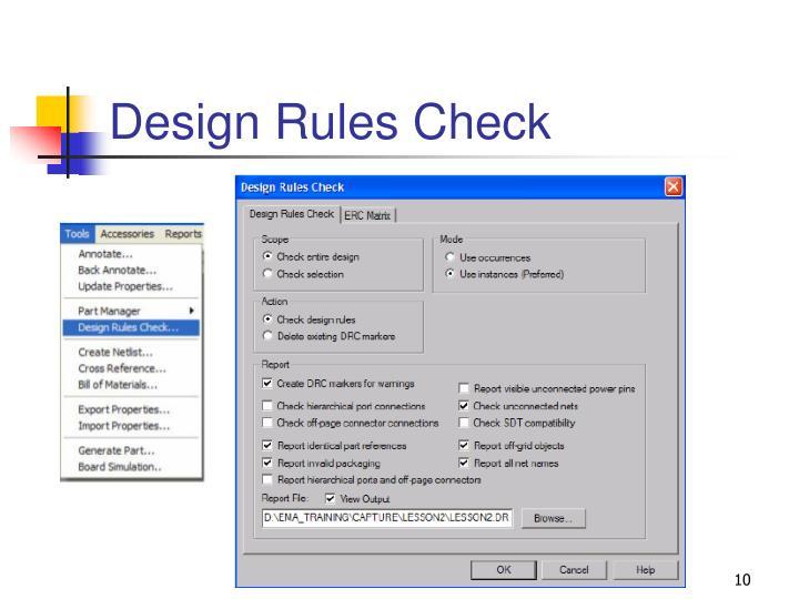 Design Rules Check