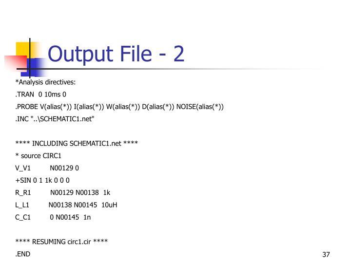 Output File - 2