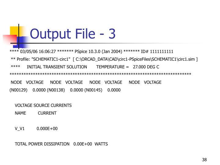 Output File - 3