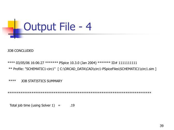 Output File - 4
