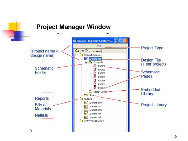 Project Manager Window