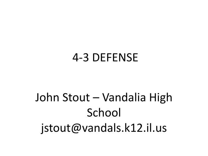 4 3 defense n.