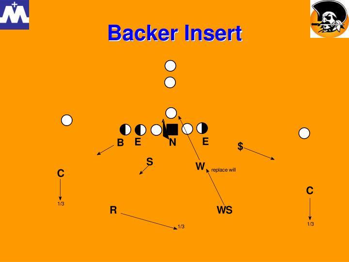 Backer Insert