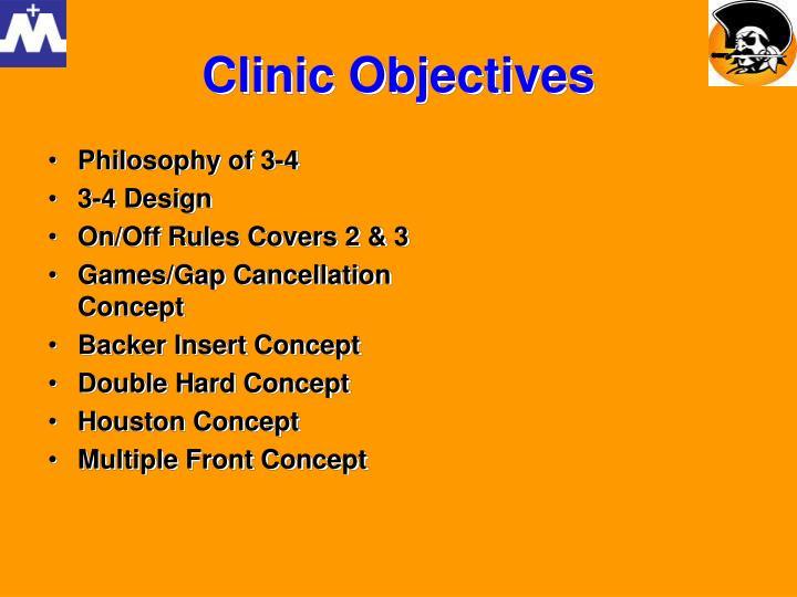 Clinic objectives