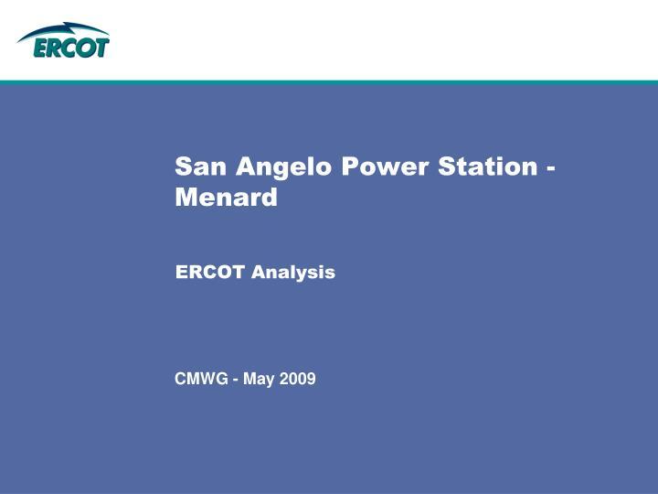 san angelo power station menard n.