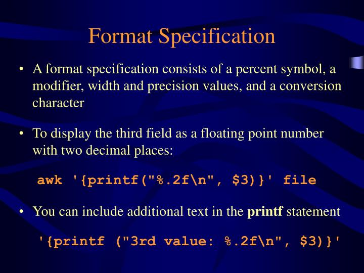 Format Specification