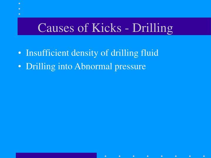 Causes of Kicks - Drilling