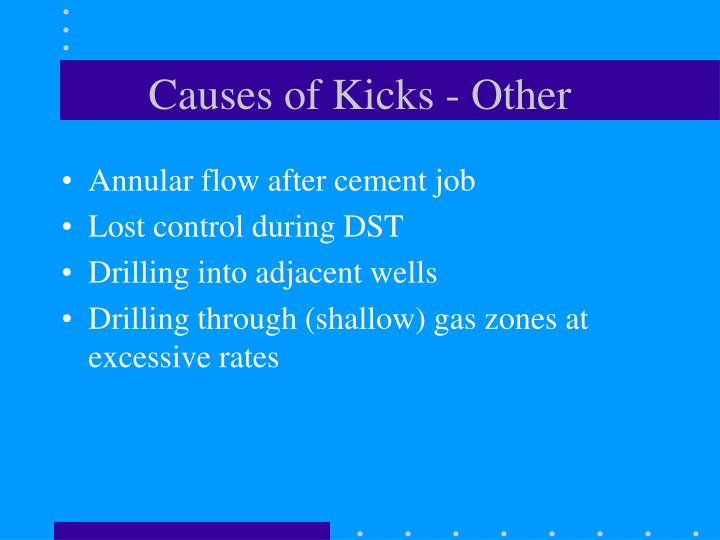 Causes of Kicks - Other