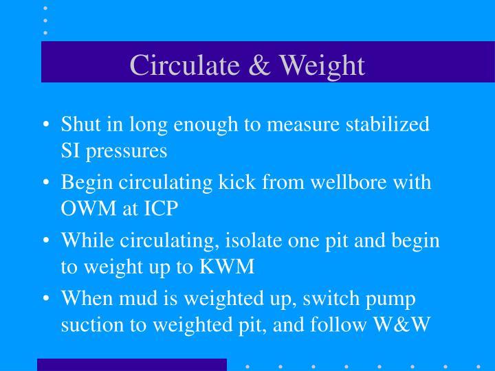Circulate & Weight