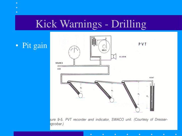 Kick Warnings - Drilling