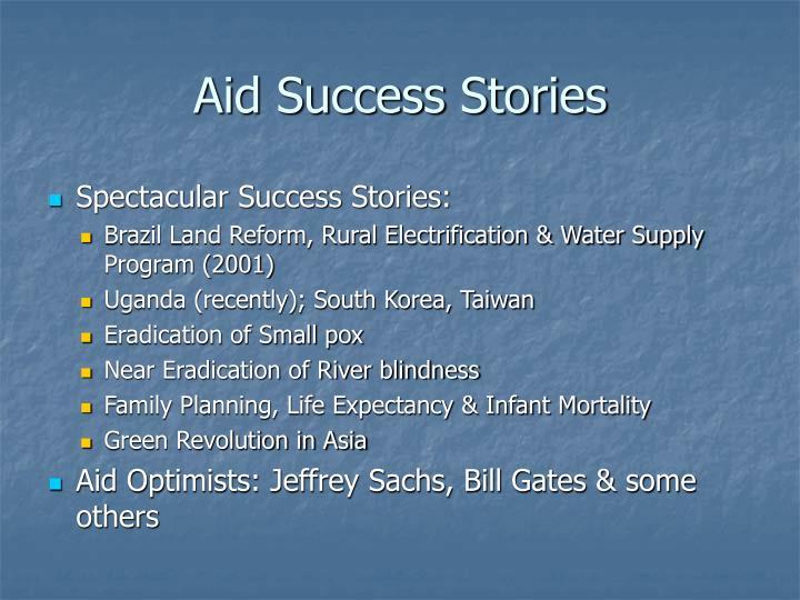 Aid Success Stories