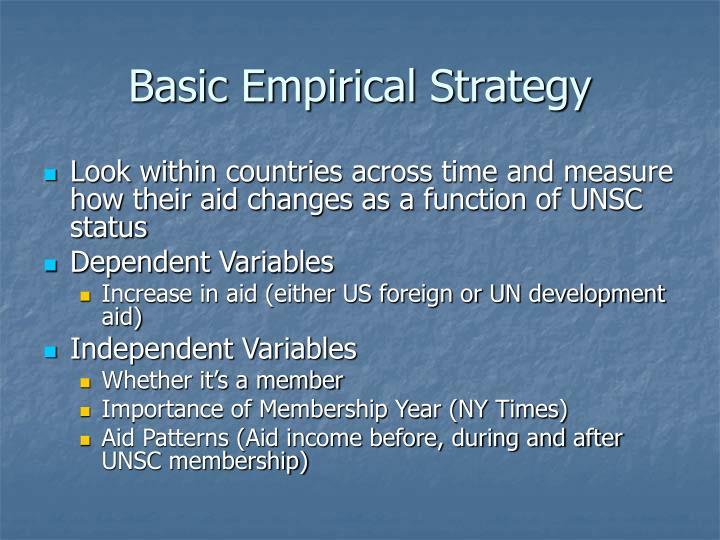 Basic Empirical Strategy