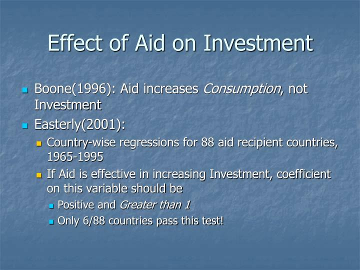Effect of Aid on Investment