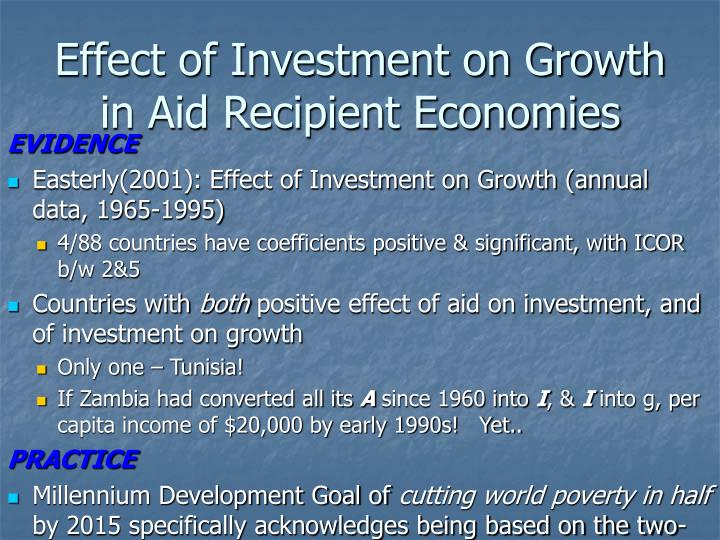 Effect of Investment on Growth in Aid Recipient Economies