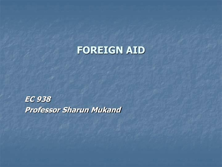 foreign aid n.