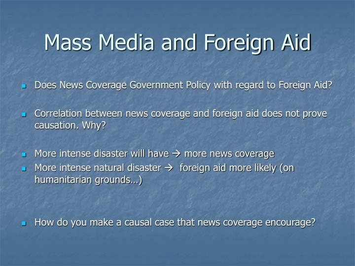 Mass Media and Foreign Aid
