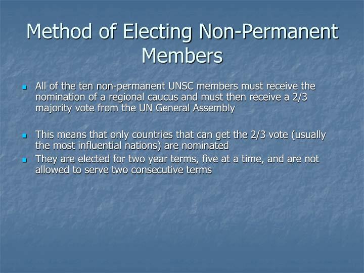 Method of Electing Non-Permanent Members