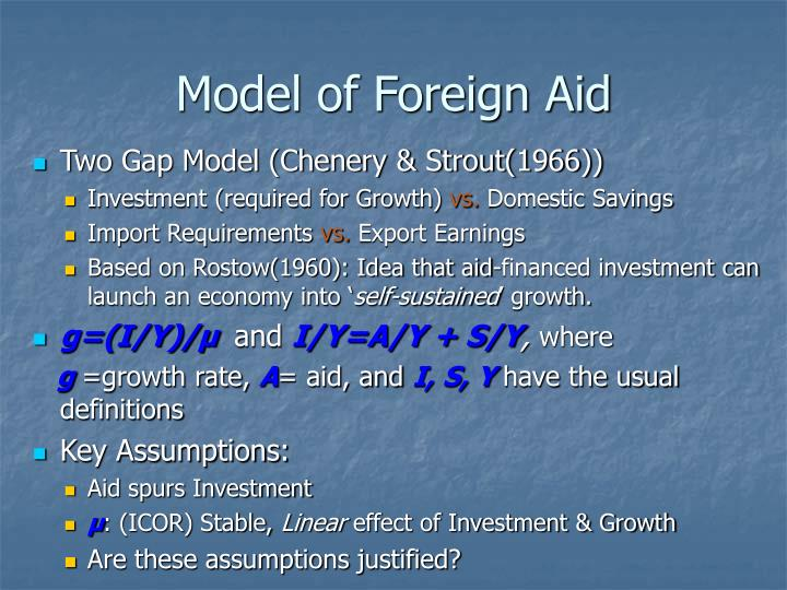 Model of Foreign Aid