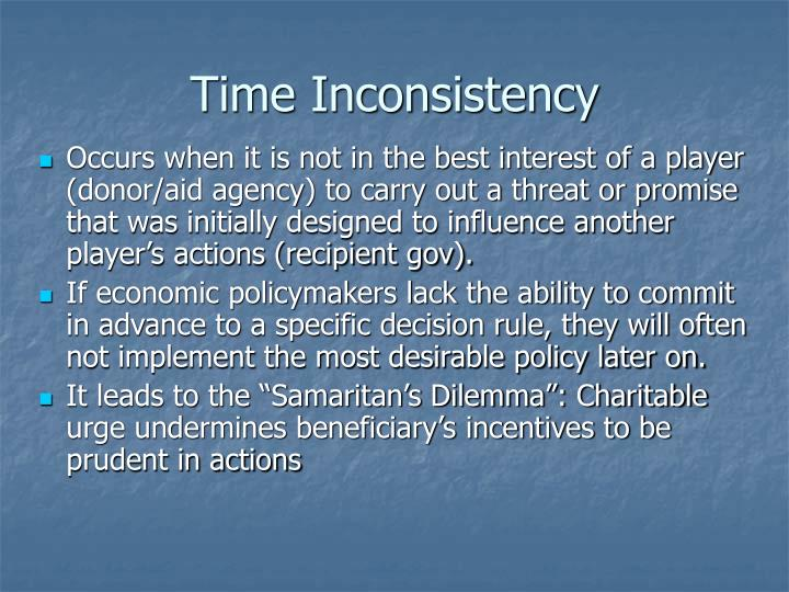 Time Inconsistency