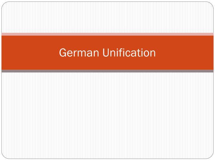 german unification n.