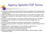 agency specific fdp terms1