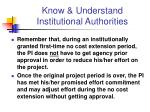 know understand institutional authorities1