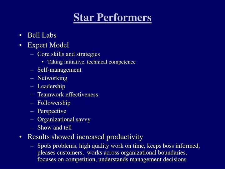 Star Performers