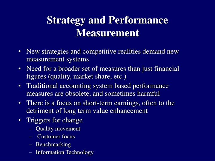 Strategy and Performance Measurement