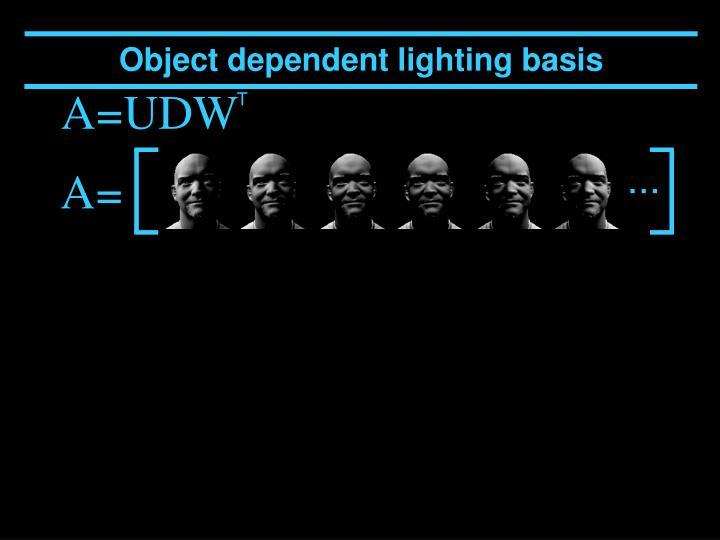 Object dependent lighting basis