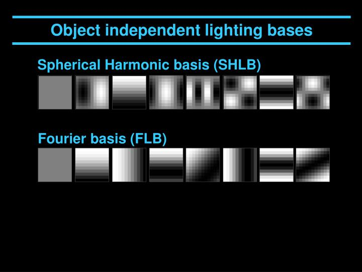 Object independent lighting bases