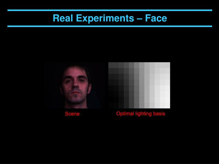 Real Experiments – Face