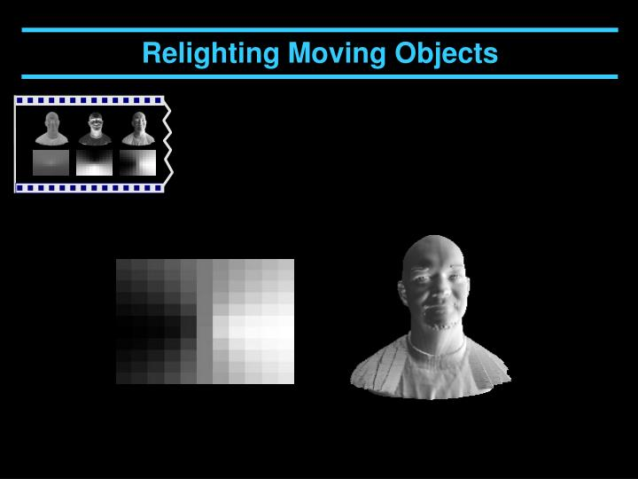 Relighting Moving Objects