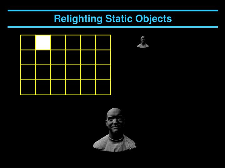 Relighting Static Objects