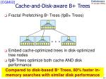 cache and disk aware b trees