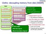 clotho decoupling memory from disk sss04