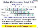 higher ilp superscalar out of order