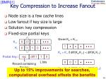 key compression to increase fanout