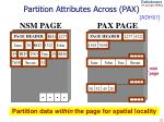 partition attributes across pax