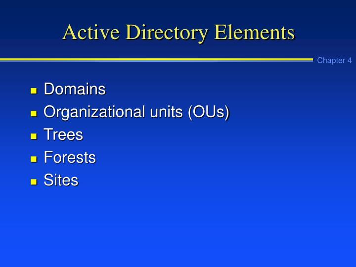 Active Directory Elements
