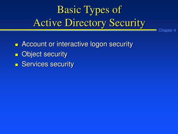 Basic Types of