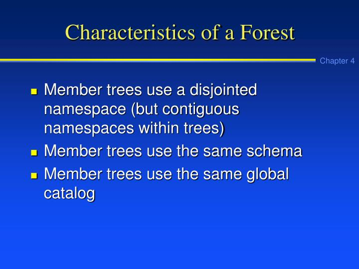 Characteristics of a Forest