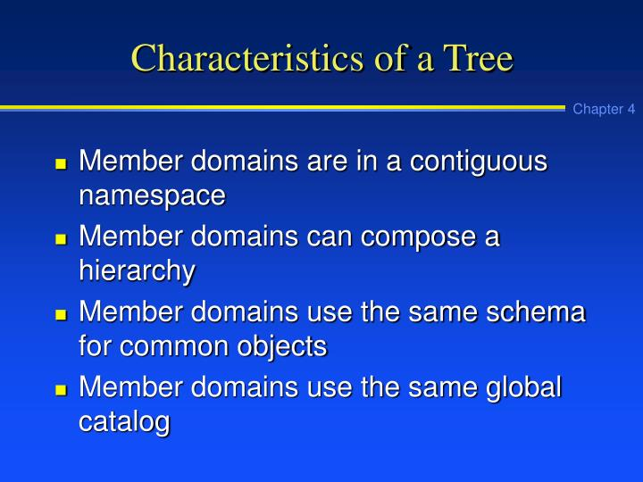 Characteristics of a Tree