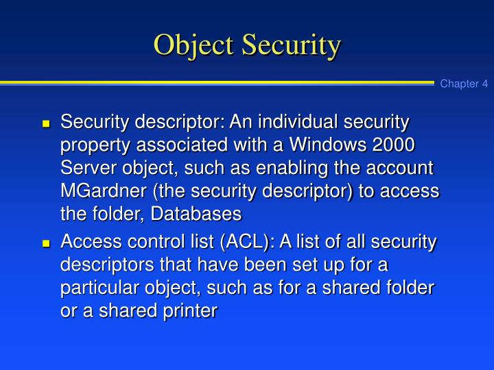 Object Security