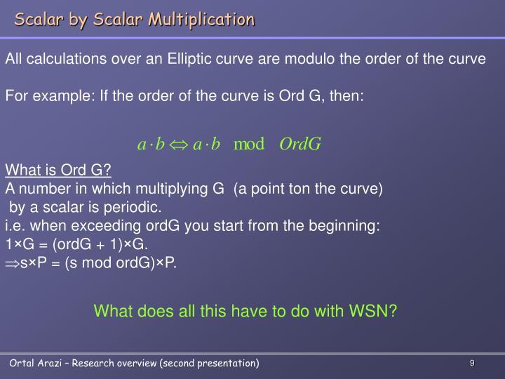 Scalar by Scalar Multiplication