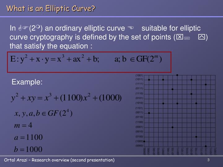 What is an elliptic curve