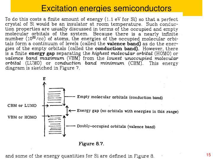Excitation energies semiconductors