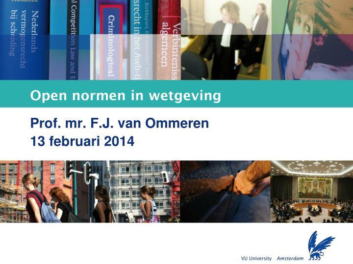 open normen in wetgeving n.