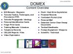 domex content overview