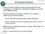 gi success factors